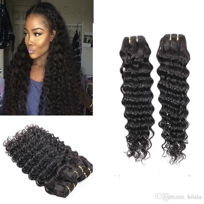 Deep Wave Malaysian Hair 2 Bundles 8a Deep Curly Thick Hair