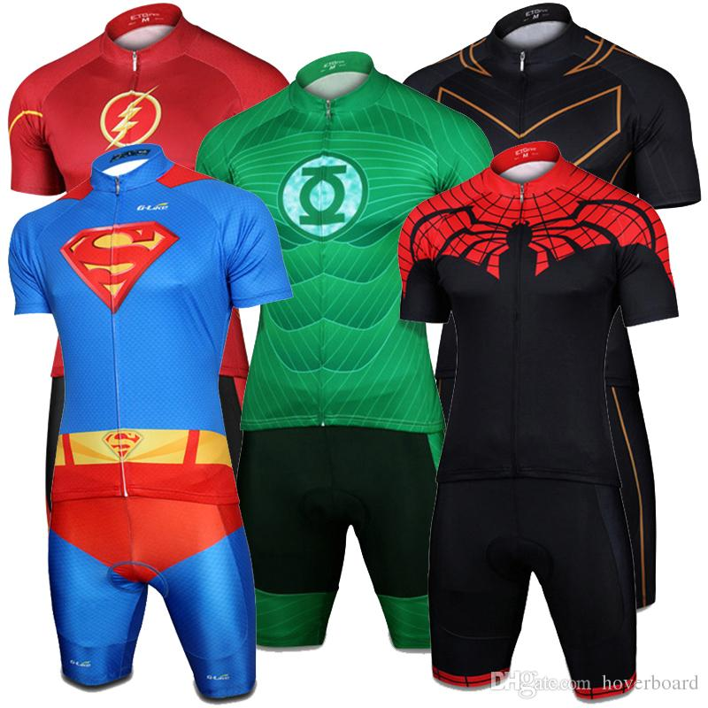 Super Hero Cycling Jersey Sets Short Sleeve Road Bicycle Clothing