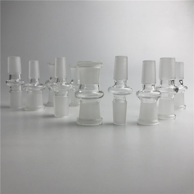 Adaptador de vidro grosso macho para feminino conversor de adaptador de vidro do cachimbo de água com 10mm 14mm 18mm para bongo de vidro da plataforma de petróleo