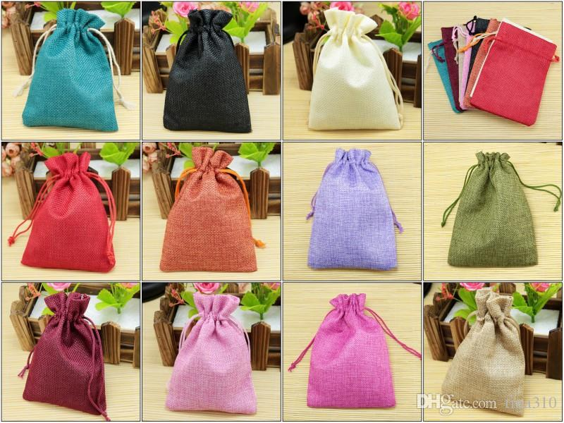 Drawstring burlap bags Gift Candy Favor Bags for Handmade Storage/ Wedding Decor 10*14cm IC872
