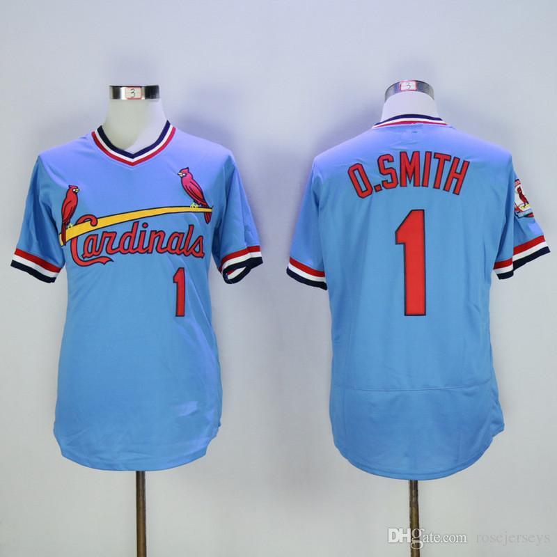 huge discount eddd7 7b0a8 st. louis cardinals 1 ozzie smith light blue pullover jersey