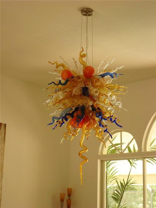 LR940-Customzied Color, Tamaño, Estilo Lámpara de techo para colgar, Bombilla LED Lámpara de vidrio de bajo consumo, Decoración de arte diseñada para el hogar Lámpara colgante