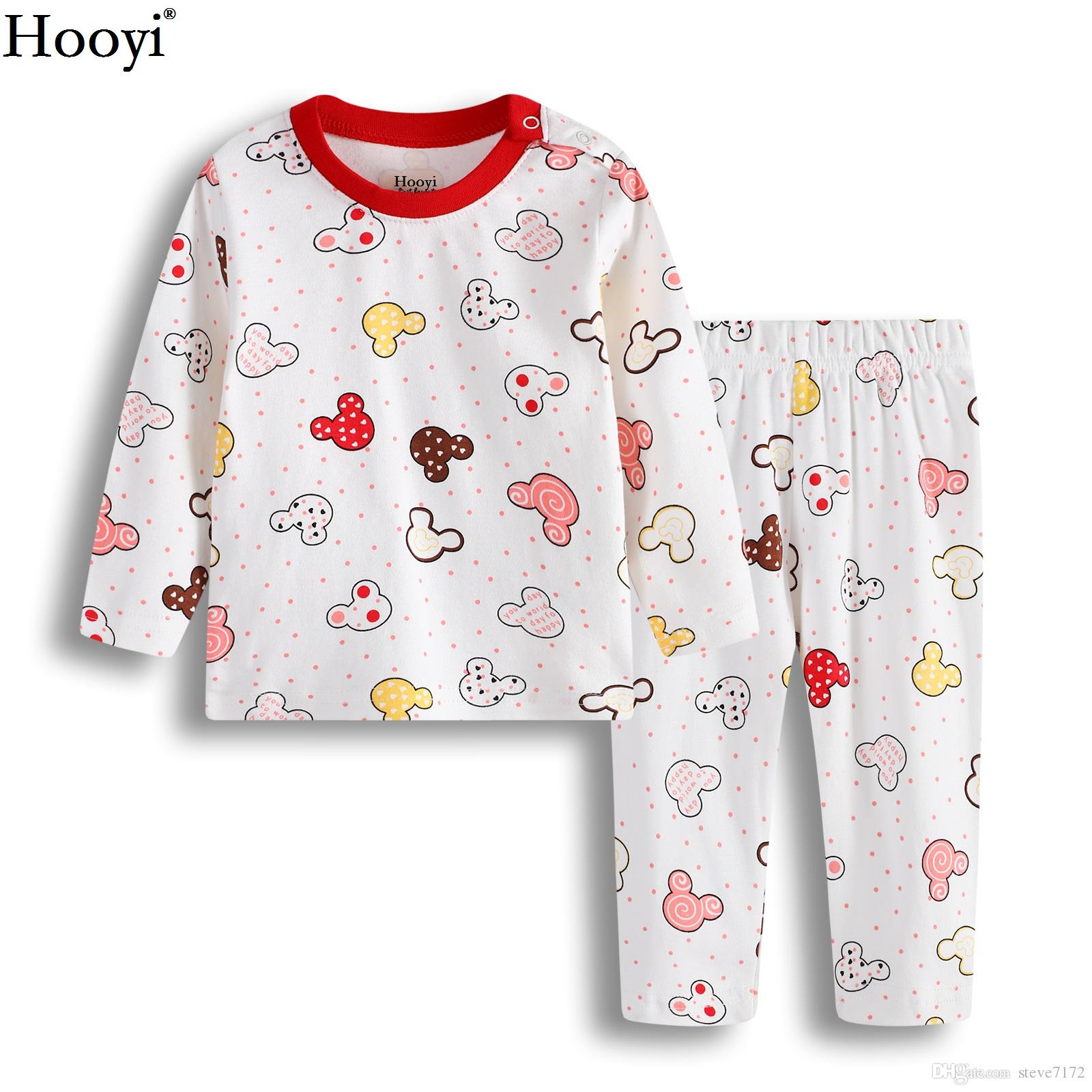 2ae70929b Cartoon Baby Girl Clothes Sets Children Pajamas Suit 0 1 2 Years T ...