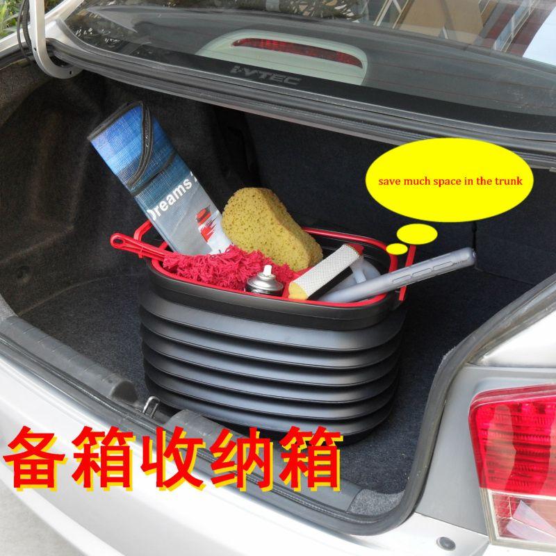 37L 접이식 자동차 주최자 커버 자동차 저장 트렁크 야외 캠핑을위한 최고의 스토리지 컴 파트먼트 상자