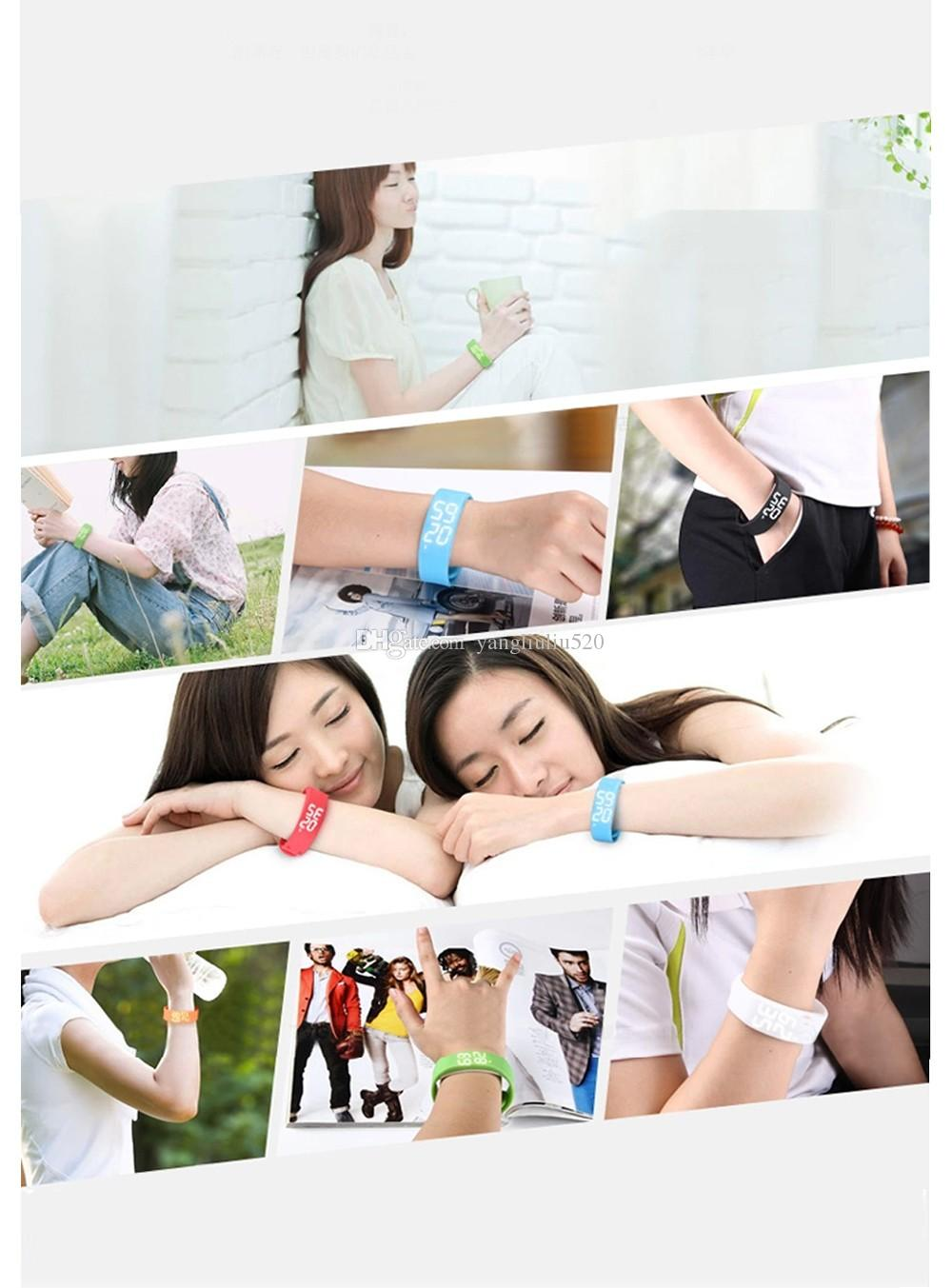 Bracelets Smart Wristbands Watch Slim Bracelet Watches Wristband Rushed Step Fitness Tracker 3D Pedometer Sleep Monitor Thermometer