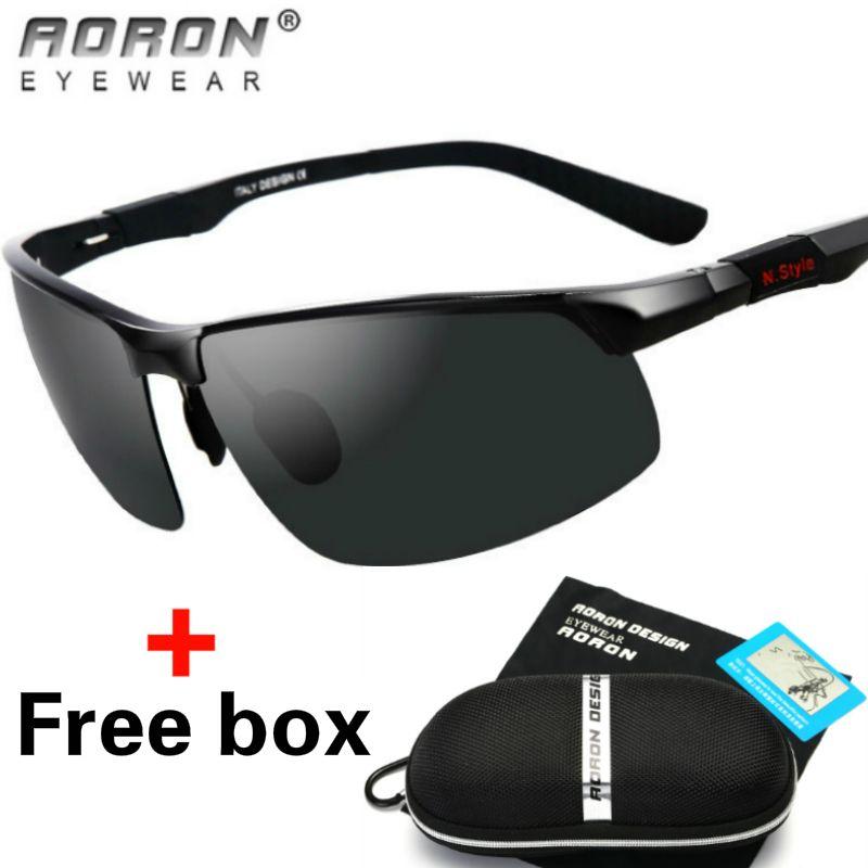 79e85632ff HD Polarized Sunglasses Mens Driving Glasses Aluminum Outdoor Sports Sun  Glasses Black Lens Eyewear Fashion Goggles With Original Box Cheap Designer  ...