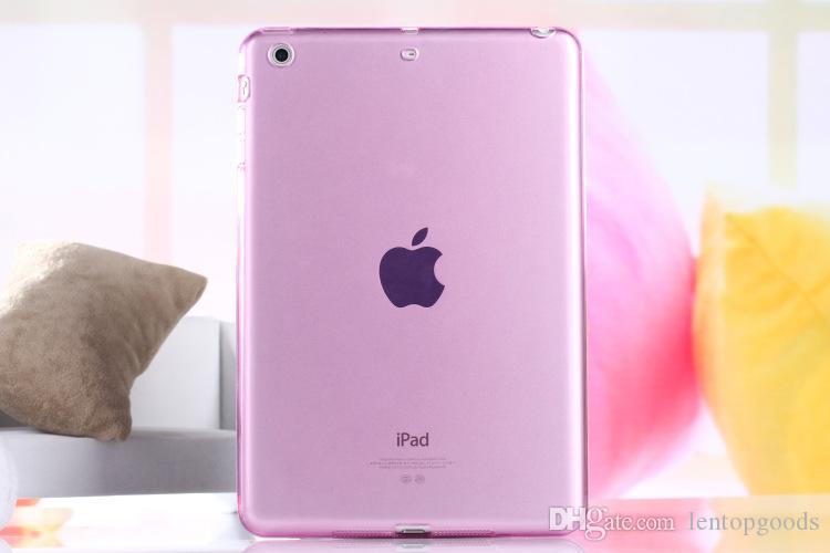 Transparent Case for Apple iPad Mini 1/2/3 TPU Silicone Back Cover for iPad Mini 4 Flip Stand Protect Tablet Case