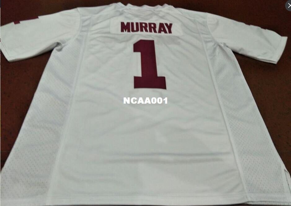 lowest price dee66 12388 Men #1 Kyler Murray Red White Oklahoma Sooners Alumni College Jersey or  custom any name or number jersey