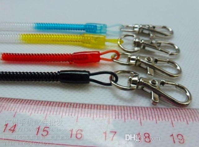 Printemps rétractable longe porte-clés en alliage téléphone portable chaîne âgées anti-perdue téléphone portable corde longue stretch livraison gratuite