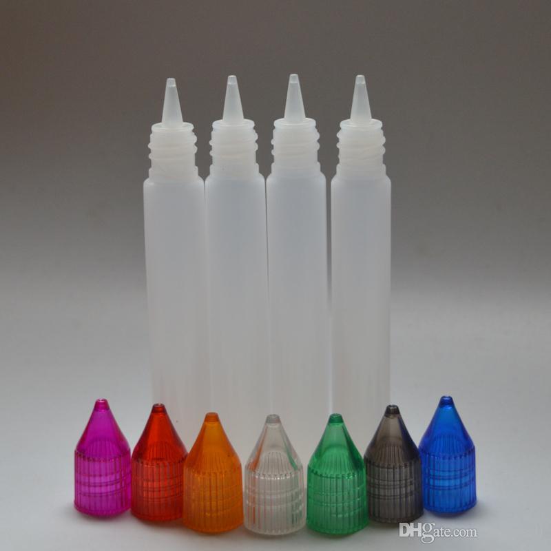 Boş E Sıvı Şişe 15ml Plastik İğne Şişe Renkli Kapaklı Boş Kalem Shape Damlalık Şişe
