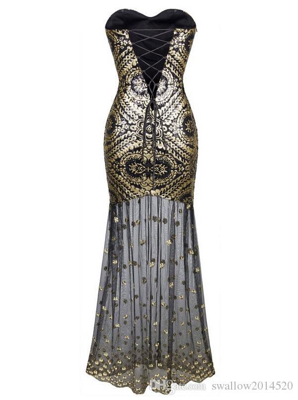 2016 Evening Dresses Sweetheart Bandage Sequined Fishtail Formal Dress Dresses Mermaid Prom Dresses 3 Styles