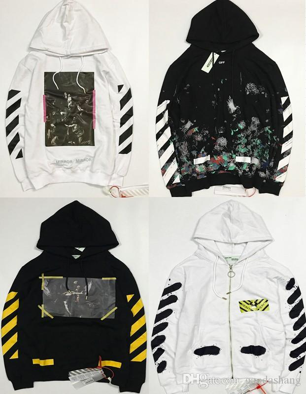 New Hot Fashion Sale Brand Clothing Off White Men Hoodies Print Cotton  Shirt Offwhite men Women ddba3f496