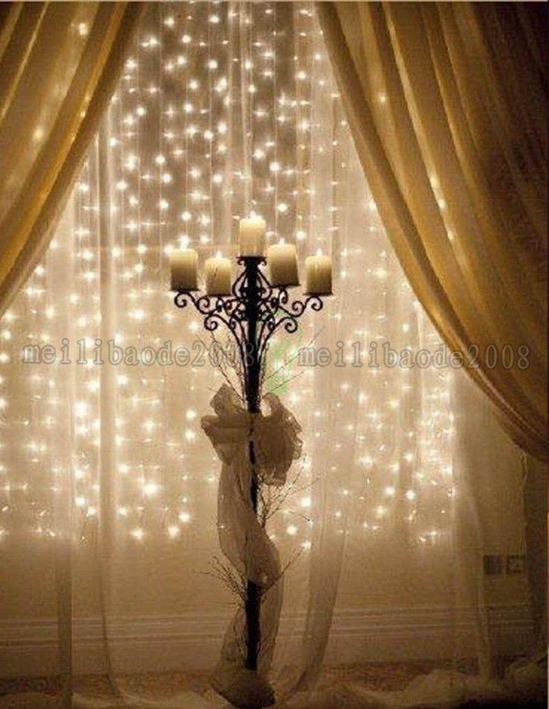 NEUE 4,5 Mt x 3 Mt 300 LED Home Outdoor Urlaub Weihnachten Dekorative Hochzeit weihnachten String Fee Vorhang Girlanden Streifen Party Lichter MYY181