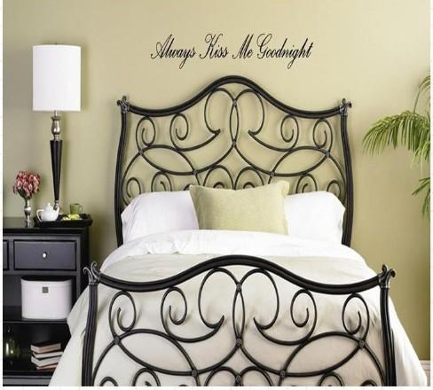 Always Kiss Me Goodnight Home Decor Bedroom Living Room Wall Decal ...