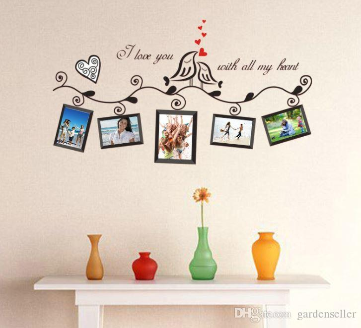 Home Decor Wall Stickers Pvc Green Wall Stick Love Bird Photo Frame Sofa  Glass Window Decoration Picture Frame Stickers Bathroom Wall Decals  Bathroom Wall ... Part 78