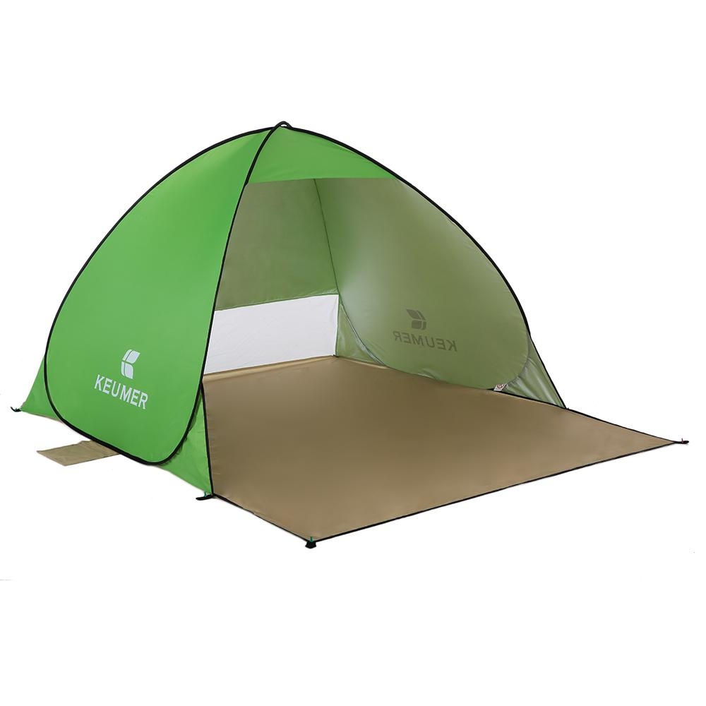 e4eda093577 Keumer Outdoor Beach Tent 1 2 Person Pop Up Open Tent Portable Waterproof Uv  Protective Tent Shelter For Camping Fishing Puppy Shelters Shelter Jobs  From ...