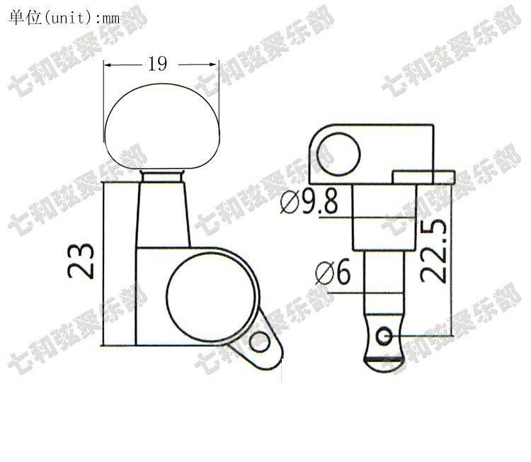 T29 3R3L botão de cordas de afinador de violão Acústico Pegs Chaves instrumentos Musicais acessórios Partes de Guitarra