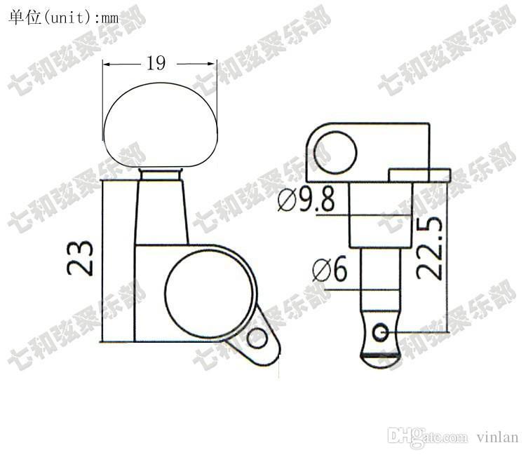 T29 3R3L 어쿠스틱 기타 튜너 끈 버튼 튜닝 못 키 악기 액세서리 기타 부품