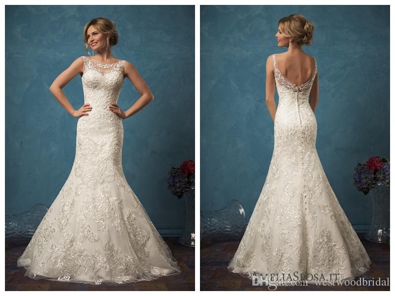 2018 Mermaid Wedding Dress Sarah Lace Wedding Dresses Bridal Gowns ...
