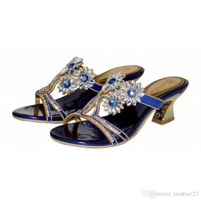 93e48d0298773 Hot Sale 2016 New Arrival Fashion Thick High Heels Flowers ...