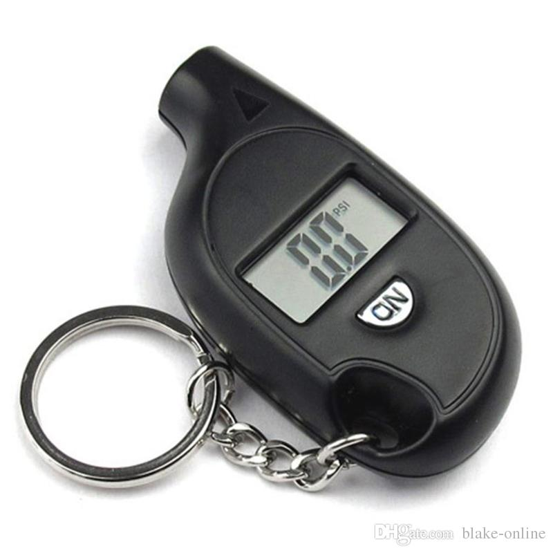 Keychain LCD Digital Screen-Reifendruckmesser Universal-Reifen-Tool für Auto-Lkw-Fahrrad