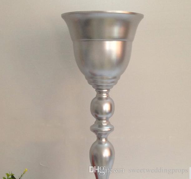 Yeni stil Parlak Gümüş Çiçek Vazo düğün metal masa centerpiece parti dekorasyon masa çiçek standı