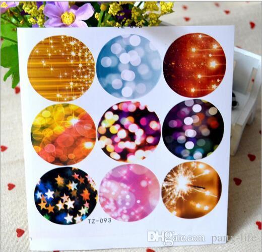 500sheets  다채로운 거품 디자인 라운드 물개 스티커 장식 DIY 선물 스티커 쿠키 씰링 레이블