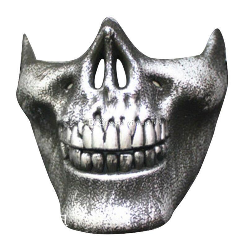 Весело пейнтбол ПВХ Airsoft маски страшно скелет череп Маска защитные CS игры Хэллоуин карнавал Новый год высокое качество 5 цветов