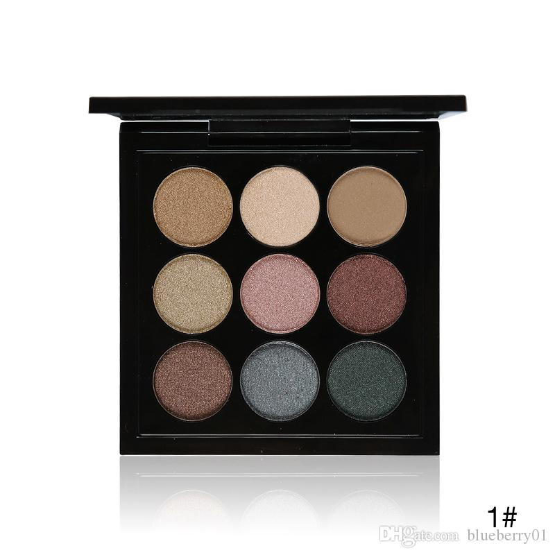 New 9 Artist Eye Shadow Palette Shimmer Matte Pigment Earth Color Shadow Kit Naked Makeup Smooth Glitter Eyeshadow