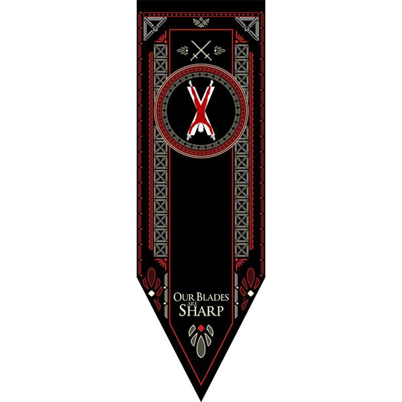 House Stark Banner Game of Thrones Wolf Tournament Outdoor Banner Flag 48*150 Custom America USA Team Soccer College Baseball Flag