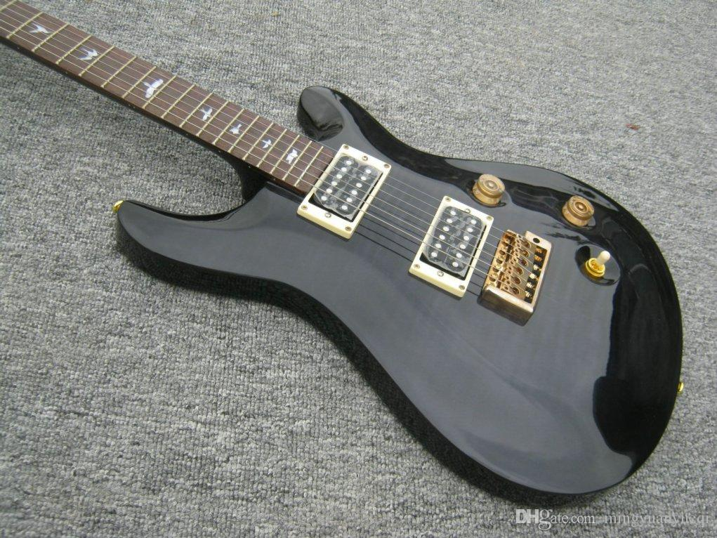 Eine neue elektrische RPS-Gitarre der Marke finden Sie in Schwarz mit Tigerflame auf der Körperoberseite. kann angepasst werden!
