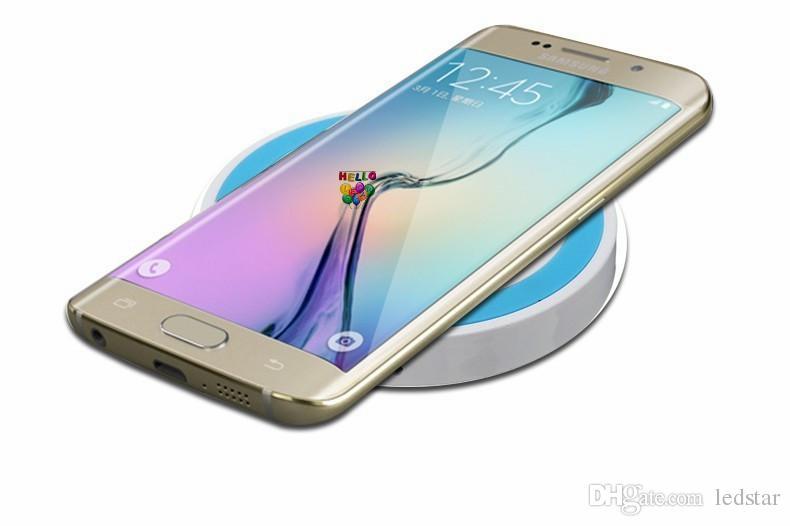 S6 Qi Kablosuz Şarj Için Cep telefonu Mini Şarj Pedi Qi-abled cihaz Samsung nokia htc perakende paketi ile LG cep telefonu JE13
