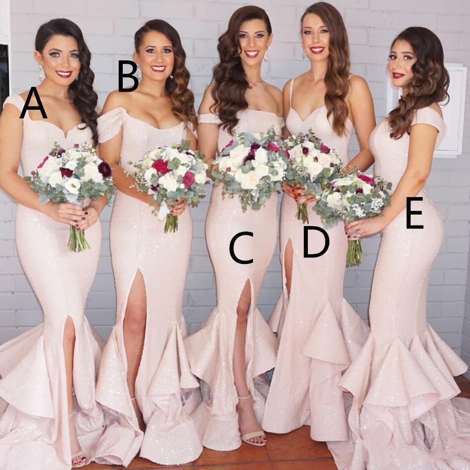 Sexy bridesmaid dresses long pink mermaid bridesmaid dress sexy bridesmaid dresses long pink mermaid bridesmaid dress convertible sequins floor length formal women wedding party evening gowns 2016 dark grey ombrellifo Gallery