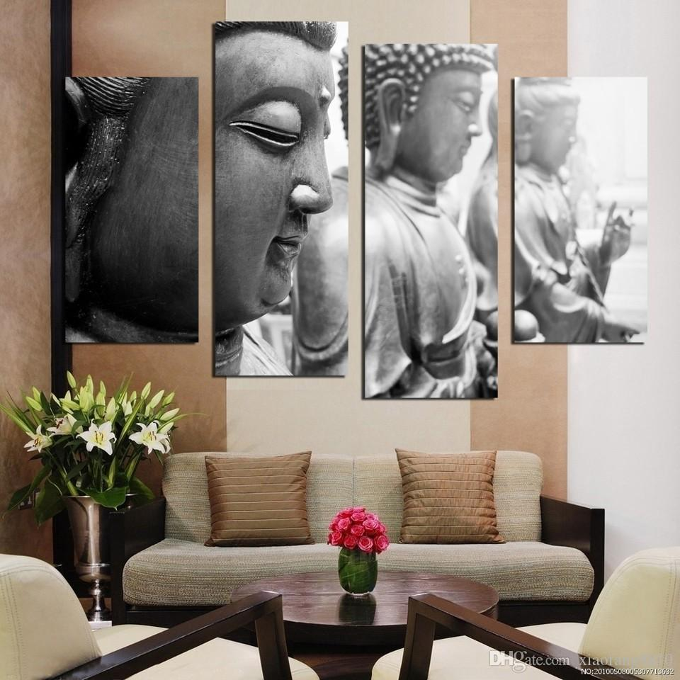 Buddha face canvas painting Home Decor Wall Art Picture for Living Room No Frame F1857