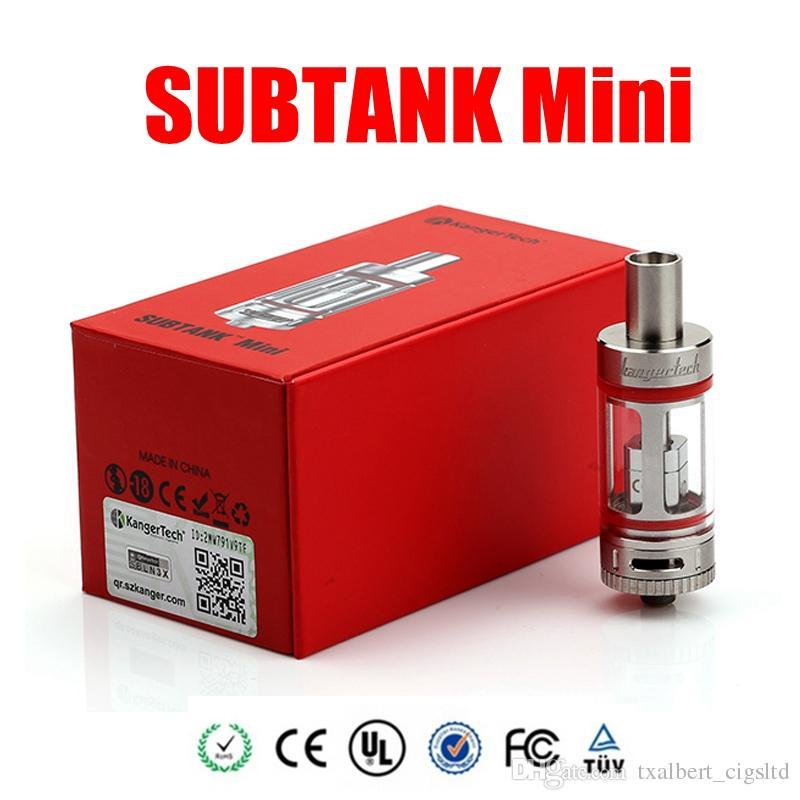 Autentico Kanger SUBTANK MINI 22mm Kanger Mini Subtank con 4.5ML Sub ohm kangertech subox topbox subvod mega vape ecig mod