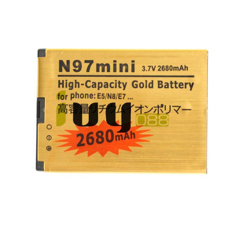 3 adet / grup BL-4D BL 4D BL4D NOKIA N97mini için 2680 mAh Altın Yedek Pil N8 E5 E7 702 T T7-00 N5 808 702 T T7 Piller
