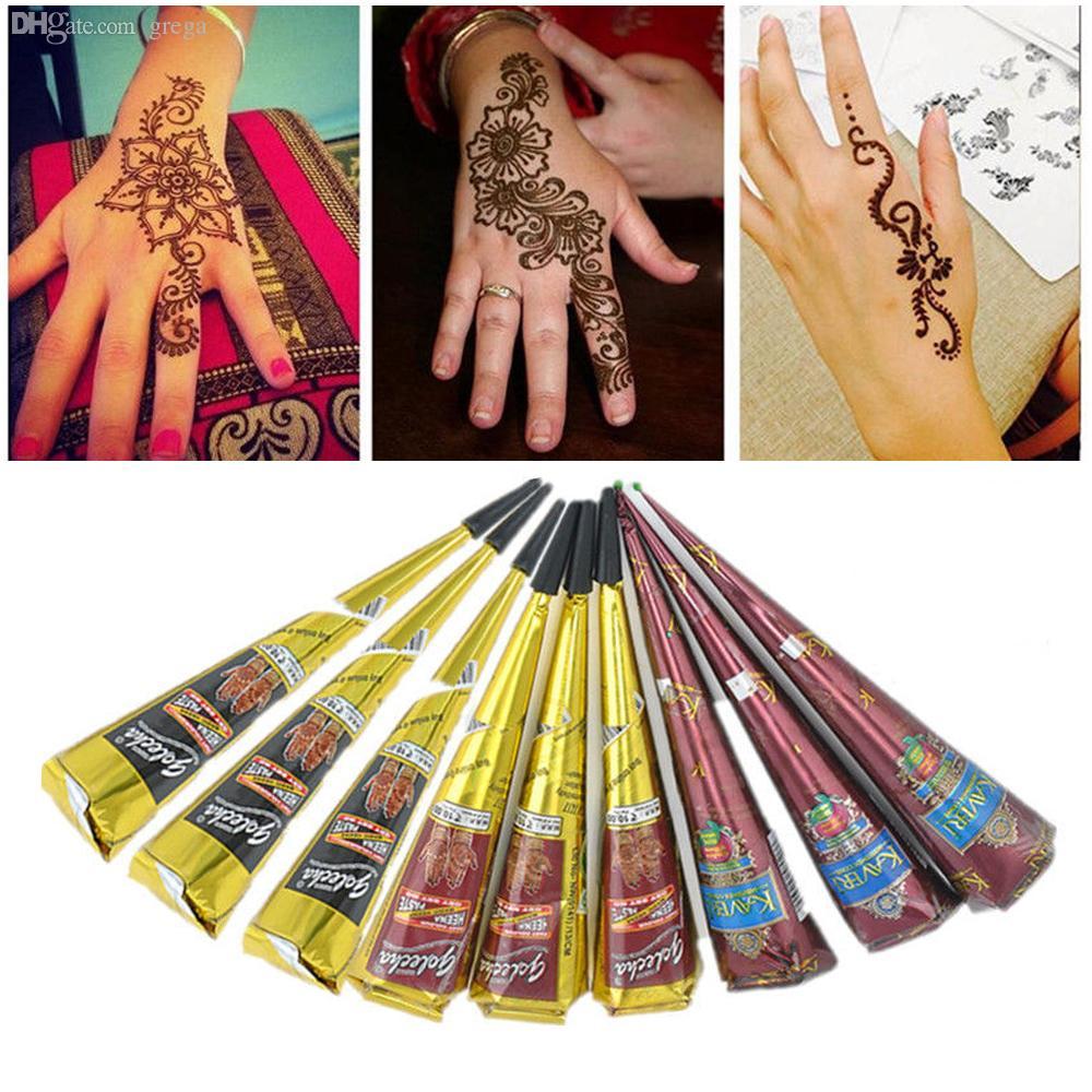 Harga Henna Tattoo Kit: Wholesale 2016 New Temporary Tattoo Kit Henna Painted
