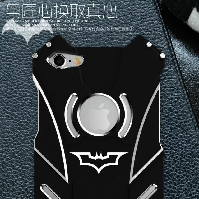 R-JUST Batman Series Heavy Dust Metal Armor Anodized Aluminum Case for IPhone 7 Plus 7S 6 6S 5 5S SE Fundas Coque Housing Cover