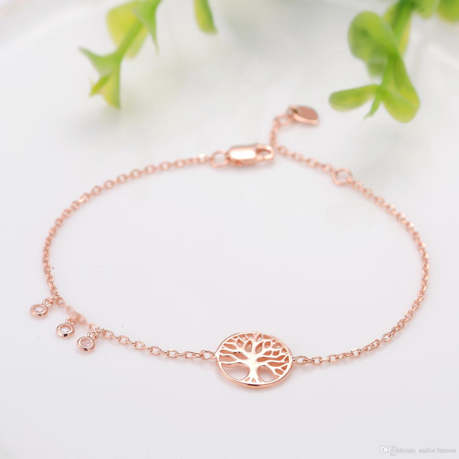 Pure Silver Jewelry Plated With Rose Gold Simple Fashion Trends