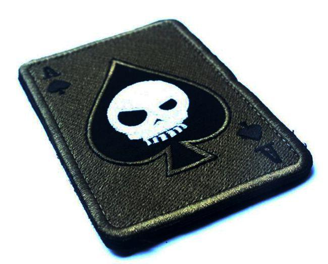 VP-76 2017 Gestickte patches Todeskarte Rechteckigen Patch im freien patches Taktische 3D Kampf Abzeichen Stoff Armband Abzeichen nähen auf patches