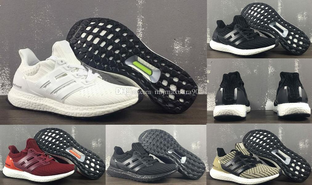 size 40 21be3 c90f9 2018 mais novo ultra boost 4.0 core Triângulo Preto branco Primeknit Runner  moda ultraboost Running sneaker calçados esportivos para mulheres dos ...