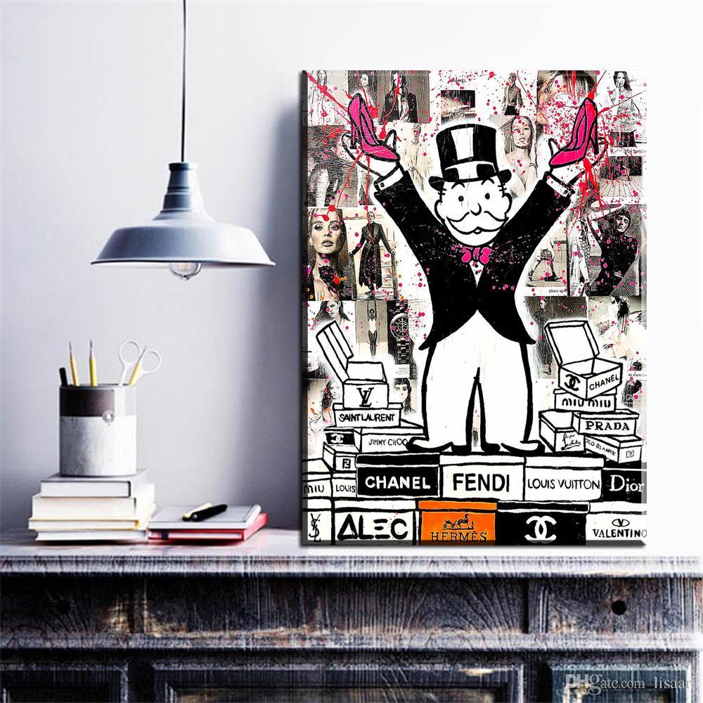 ZZ272 Rey de la moda de Alec Monopoly Impresión de la lona para el arte de la pared Pintura Imagen Decoración del hogar Sin marco Muchas de las imágenes disponibles