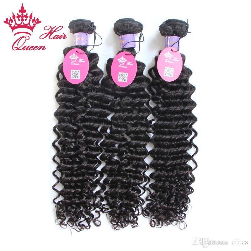 퀸 헤어 제품 / 말레이시아 처녀 머리 깊은 웨이브 곱슬 스타일 인간의 머리 extenstions 무료 배송