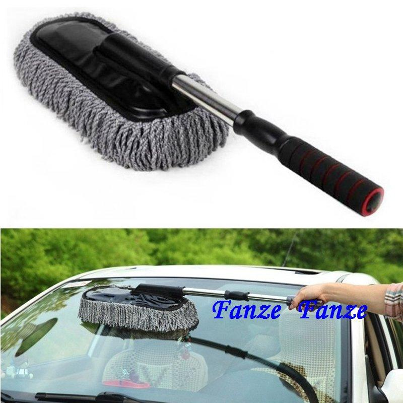 Car Wash Cleaning Brush Duster Dust Wax Mop Microfiber Telescoping Dusting Tool 18 No Tracking