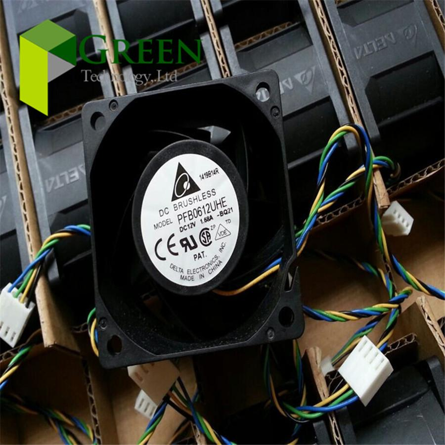 New Original Delta PFB0612UHE 6038 60MM Frequency converter server cooling  fan violence Cooling fan 12V 1 68A with 4pin