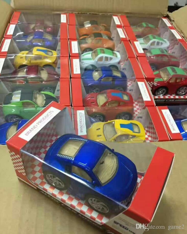 Super alloy car model Q version of the car toy die casting model models show toys random delivery