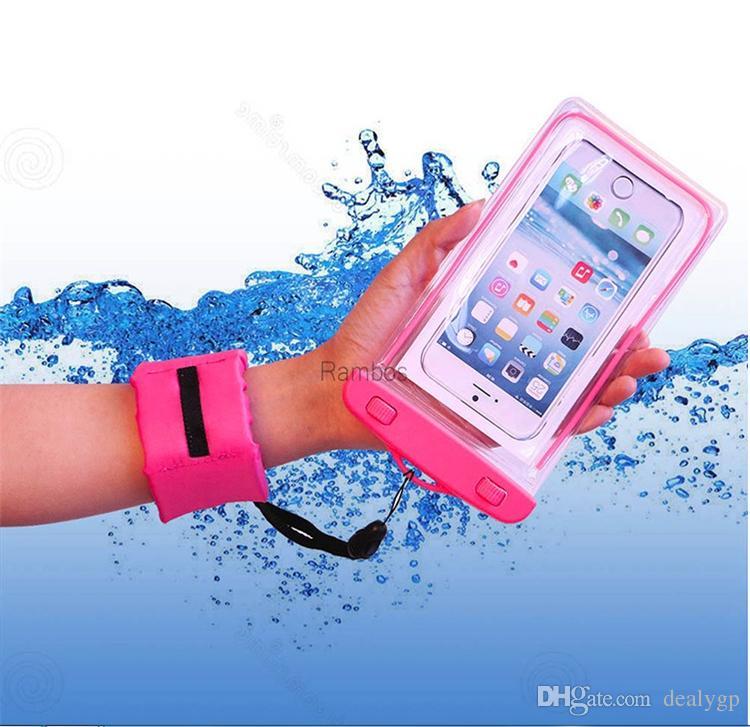 IP68 imprägniern Handy-Beutel-Kasten-transparente Tauchtasche mit dem sich hin- und herbewegenden Handgelenk-Bügel für lenovo zuk z1 Abdeckungsfall