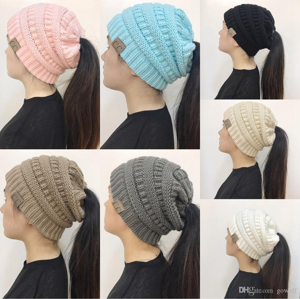 2e91471a412 Sports Styles CC Trendy Winter Warm Knitted Women Skull Caps Chunky ...