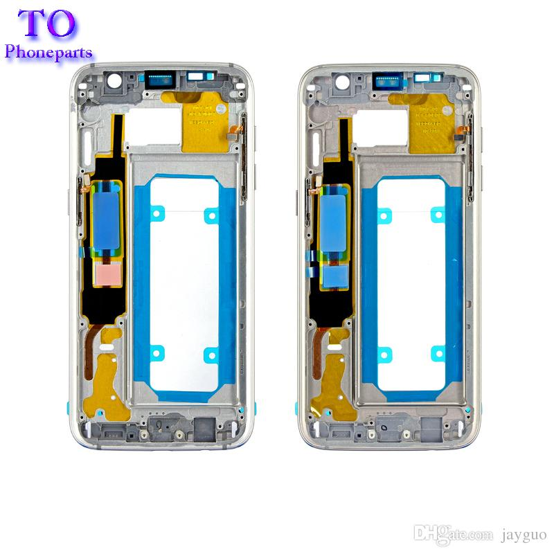 OEM LCD Middle Housing Frame Bezel Replacement Parts For Samsung Galaxy S7 G930 G930F S7 Edge G935F Middle Chassis Plate Bezel