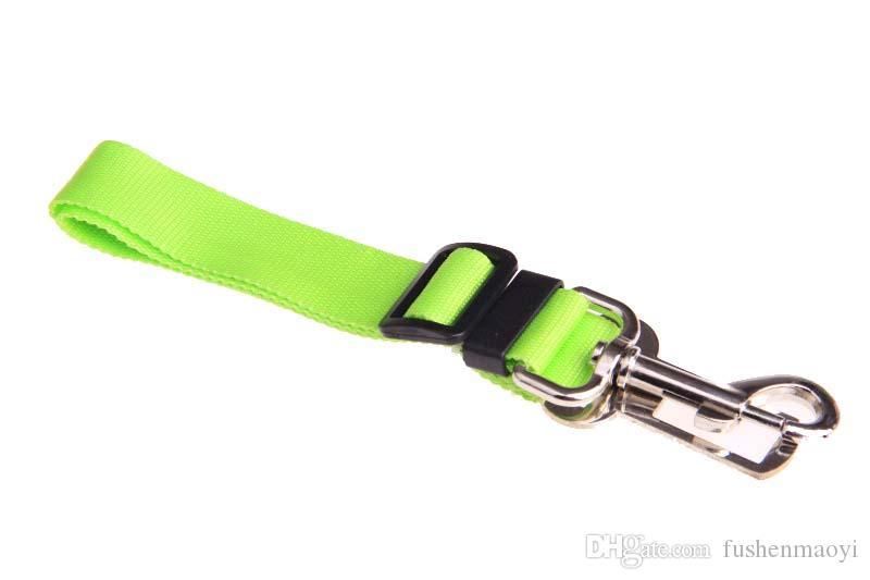Ceintures de sécurité pour chien voiture voiture fournitures pour animaux de compagnie ceinture de sécurité en nylon siège de voiture chien laisse 8 couleurs